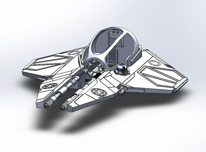 Star Wars Jedi Interceptor 3D Print 103753