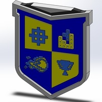 Small Video Game High School crest 3D Printing 103762