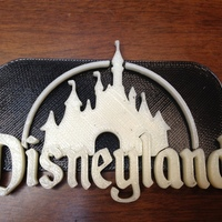 Small Disney Castle + keychain 3D Printing 103788