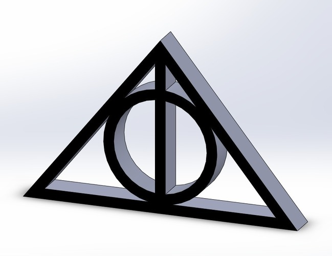 Deathly Hallows 3D Print 103808