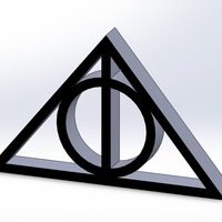 Small Deathly Hallows 3D Printing 103808