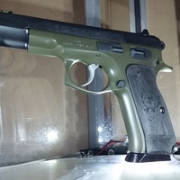 Small CZ 75 Textured Grips 3D Printing 103852