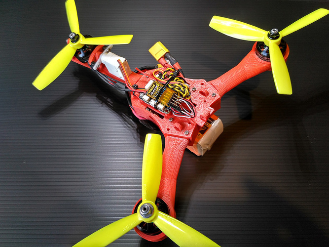 Micro tricopter Scrab by elPet 3D Print 103926