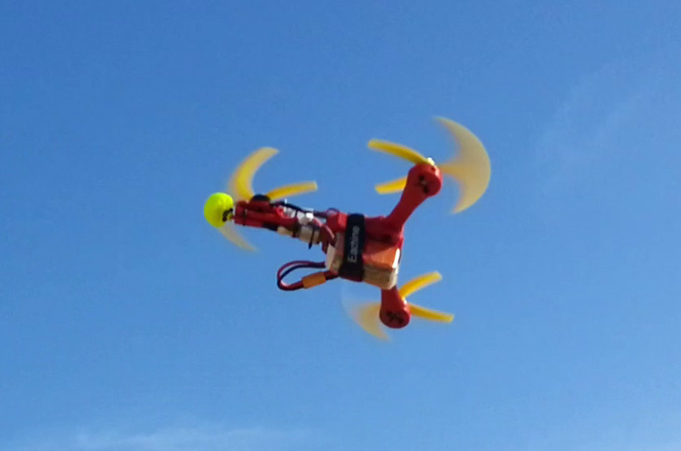 Micro tricopter Scrab by elPet 3D Print 103927