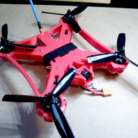 Small Bat-quad 210mm by elpet (full printed racing drone) 3D Printing 103930