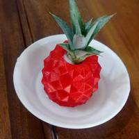 Small Pineapple flower pot 3D Printing 104000