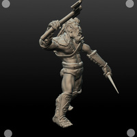 Small 54mm Orc 3D Printing 104114