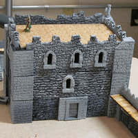 Small Complete Castle Expansion 1:Buildings & Dungeons 28mm-32mm 3D Printing 104118
