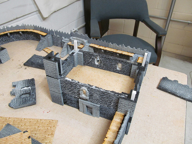 Complete Castle Expansion 1:Buildings & Dungeons 28mm-32mm 3D Print 104121