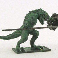 Small Lizardman 52mm  3D Printing 104149