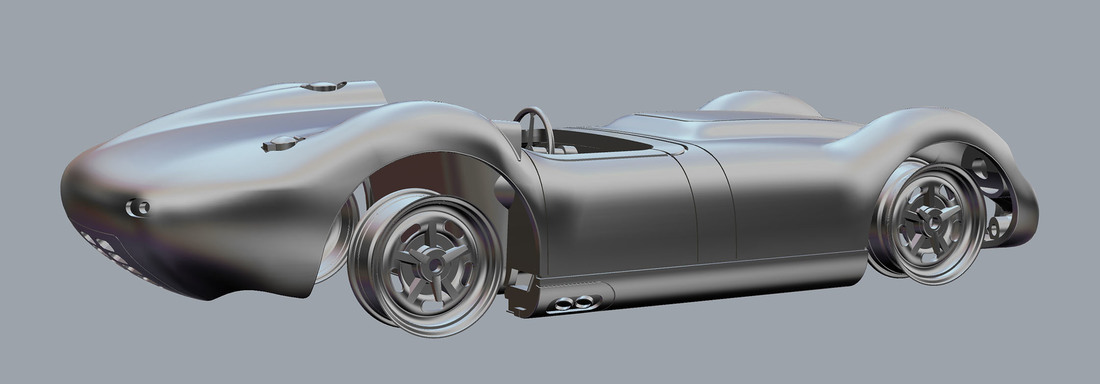 Lister Jaguar Knobbly SLOT CAR 3D Print 104262