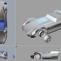 Small Lister Jaguar Knobbly SLOT CAR 3D Printing 104263