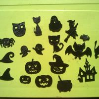Small Halloween elements for scrap-booking  and other crafts 3D Printing 104347
