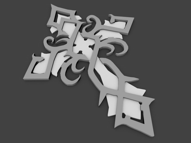 celtic cross 3D Print 104367