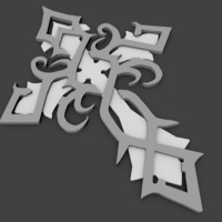 Small celtic cross 3D Printing 104367
