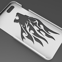 Small iPhone 6 Basic Case tribal lion head 3D Printing 104406