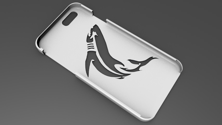 iPhone 6 Basic Case tribal shark 3D Print 104409