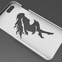 Small iPhone 6 Basic Case  comic girl 3D Printing 104413