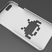 Small iPhone 6 Basic Case  space invaders 3D Printing 104415