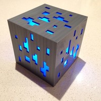 Small Minecraft diamond ore lamp 3D Printing 104514