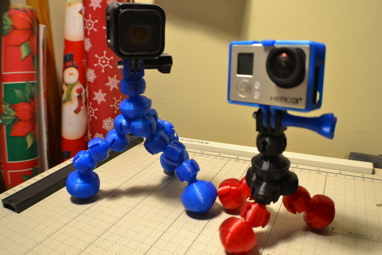 Action Camera Flex Bubble Tripod 3D Print 104577