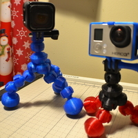 Small Action Camera Flex Bubble Tripod 3D Printing 104577