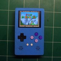 Small Portable RetroPie Emulator with Raspberry Pi Zero (Gameboy Clone 3D Printing 104633