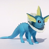 Small Vaporeon Pokemon Eevee evolution 3D Printing 104657