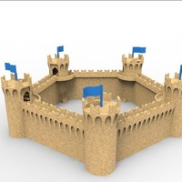 Small  modular medieval castle sand 3D Printing 104667