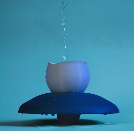 Water lily: the Floating Mug  3D Print 104679