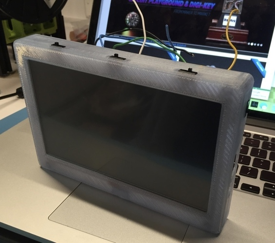 "Adafruit 7"" Portable HDMI Monitor Case Remix for use as a larger 3D Print 104732"