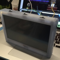 "Small Adafruit 7"" Portable HDMI Monitor Case Remix for use as a larger 3D Printing 104732"