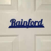 Small Rainford Retro Sign 3D Printing 104736