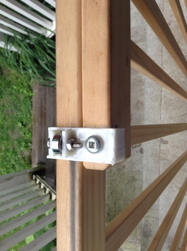 Baby gate bearing mount 9000 3D Print 104841