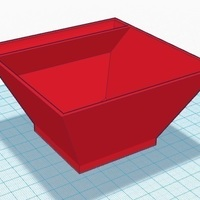 Small 4 inch Square Bowl with tray 3D Printing 104846