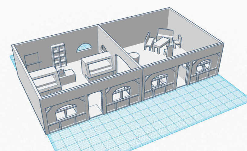 Coffee Shop - Wargame scenery 1:72 3D Print 104868