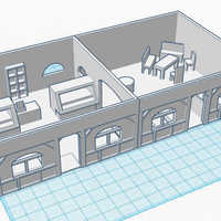 Small Coffee Shop - Wargame scenery 1:72 3D Printing 104868