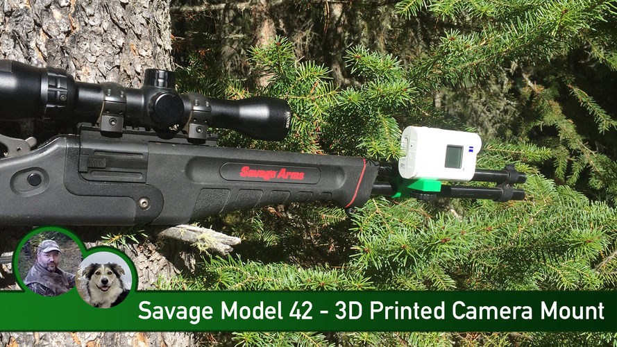 Savage Model 42 Camera Mount 3D Print 104875