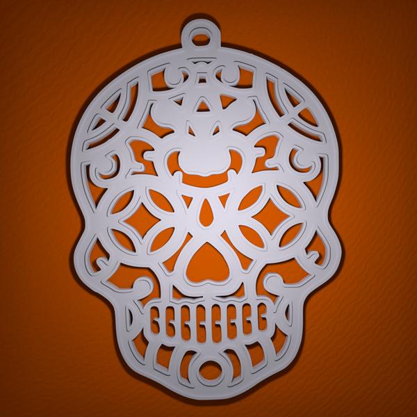 Medium Sugar Skull Halloween Decoration 3D Printing 104919