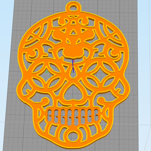 Sugar Skull Halloween Decoration 3D Print 104920