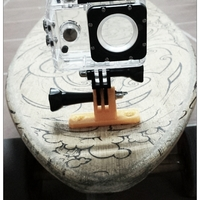 Small GoPro Skateboard Mount 3D Printing 104950