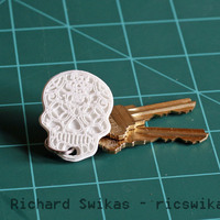 Small Sugar Skull Key Ring 3D Printing 104956