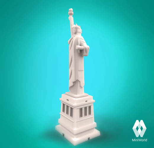 searched 3d models for statue of liberty torch