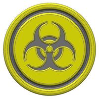 Small Biohazard Coaster 3D Printing 104995