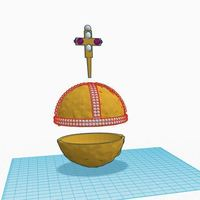 Small The Holy Hand Grenade of Antioch (For Electronics) 3D Printing 105001