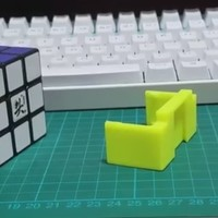 Small Rubik Belt Mount 3D Printing 105027