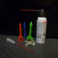 Small Rocket Science -- Canned Air Rocket 3D Printing 105086