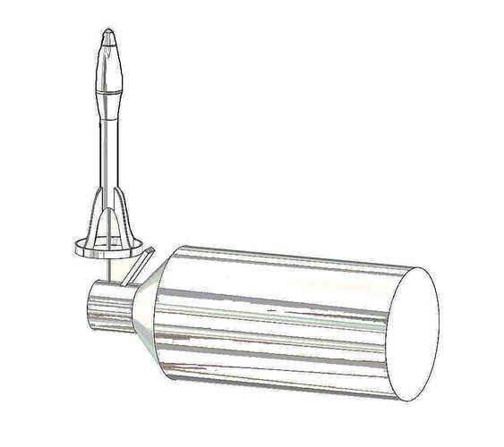 Rocket Science -- Canned Air Rocket 3D Print 105087