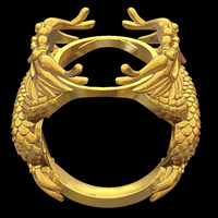 Small Dragon ring 3D Printing 105152