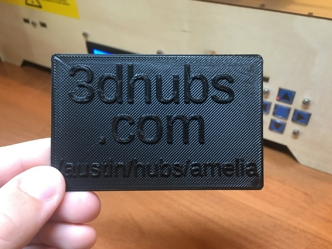 3d hubs business card 3d print 105174 - 3 D Business Card